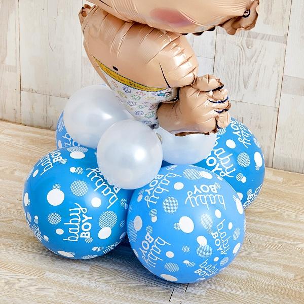 BABYバルーンでお祝いするBlue Baby Shower[8]