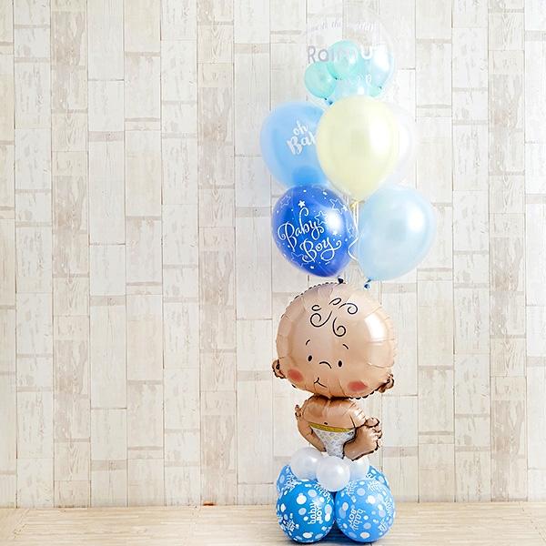 BABYバルーンでお祝いするBlue Baby Shower[9]