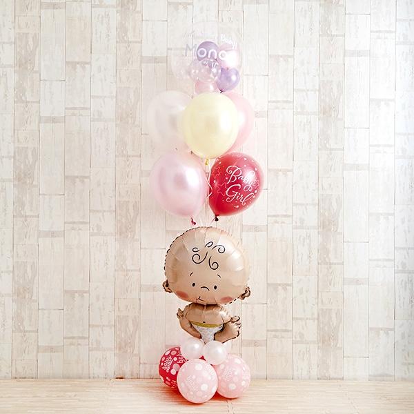 BABYバルーンでお祝いするPink Baby Shower