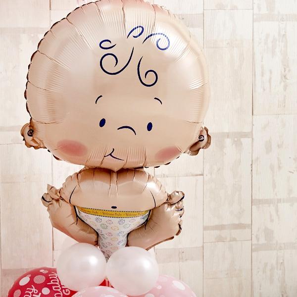 BABYバルーンでお祝いするPink Baby Shower[3]