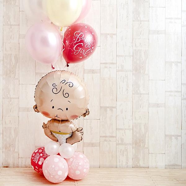 BABYバルーンでお祝いするPink Baby Shower[7]
