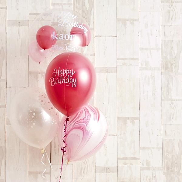 フラワーがちょこんと可愛いHappy birthdayバルーン[9]