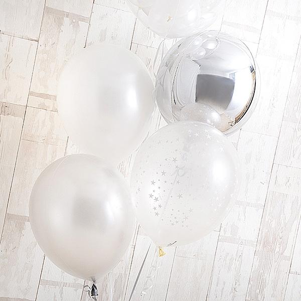 永遠の輝きを思わせる、白×銀アレンジ![4]