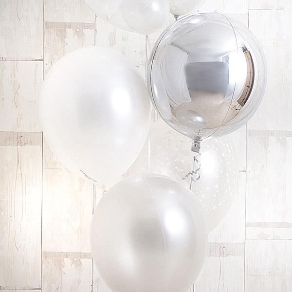 永遠の輝きを思わせる、白×銀アレンジ![5]