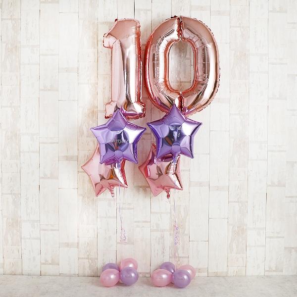 その存在感主役級!Brilliant Pink Number withスター[2]