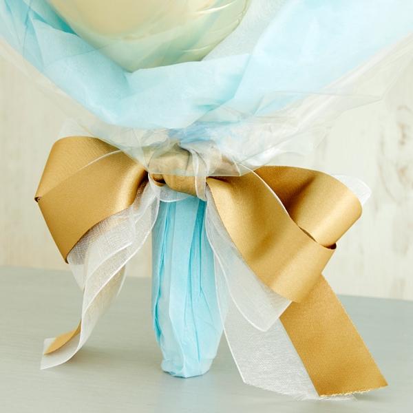 リッチハートと憧れのブルー&ゴールドバルーンブーケ[2]