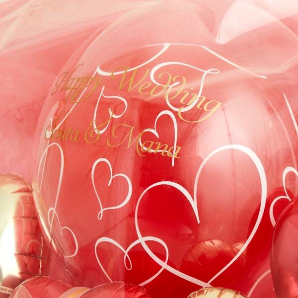 たくさんの愛を伝えるレッド×ゴールドバルーンポット[7]