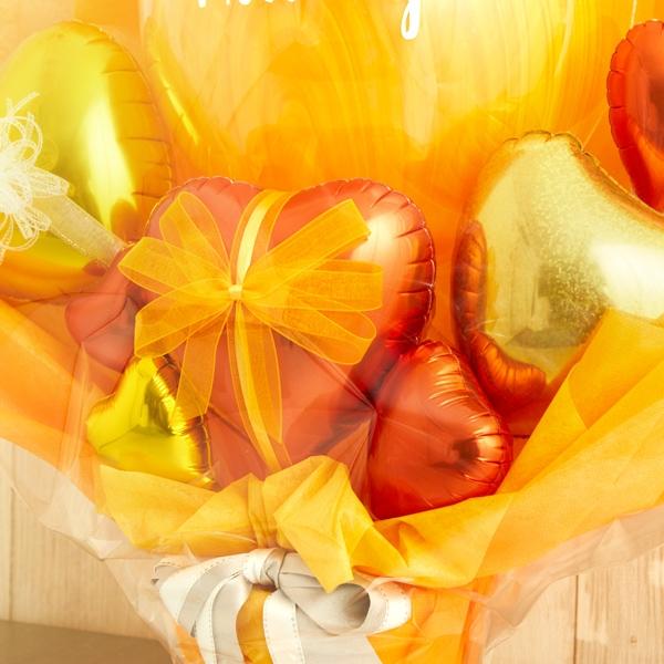 元気をくれる、鮮やかオレンジバルーンポット[5]