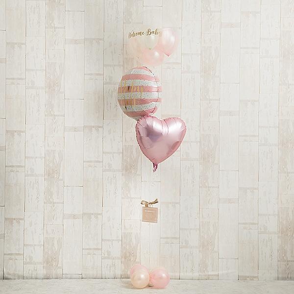 明るいピンクでWelcome Baby Girl[5]