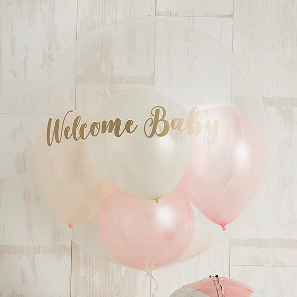 明るいピンクでWelcome Baby Girl[2]