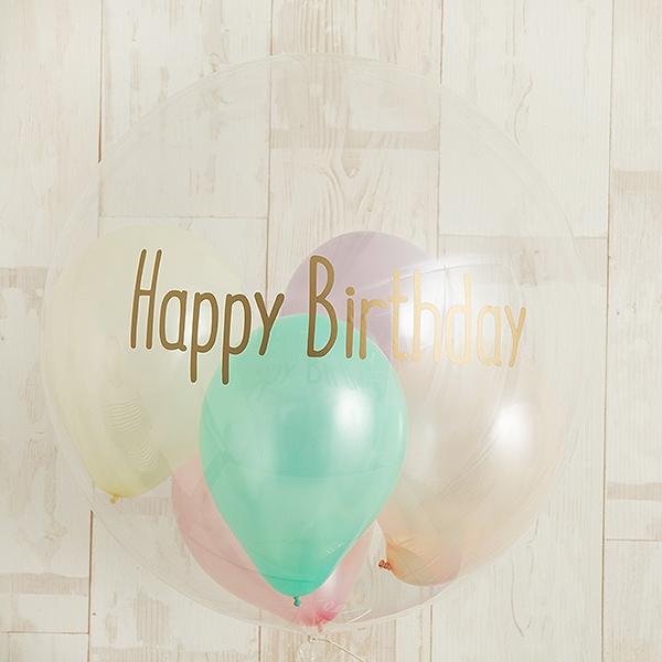 パステル×ニュアンスイエローで祝うHappy Birthday[2]